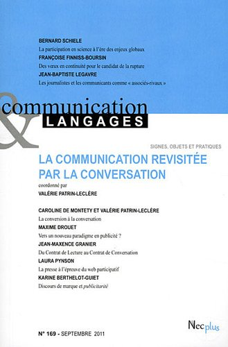 9782358760508: Communication et Langages, N° 169, septembre 20 : La communication revisitée par la conversation