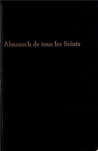 9782358960267: Almanach de tous les seints : Almanach perpétuel