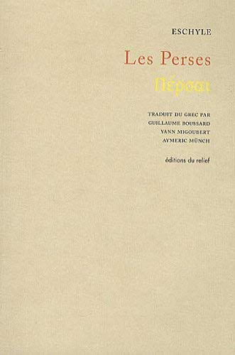 9782359040036: Les Perses (French Edition)