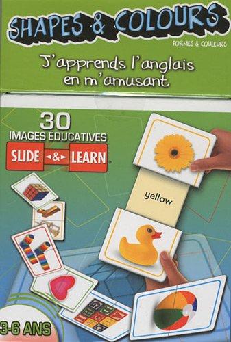 9782359140200: Shapes & Colours (formes & couleurs) : 30 images éducatives Slide & Learn 3-6 ans