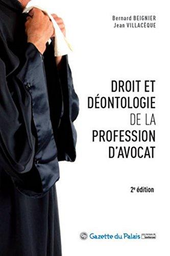 9782359710540: Droit et déontologie de la profession d'avocat