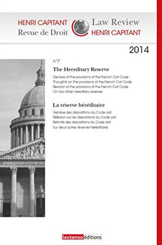 9782359711554: Henri Capitant - Revue de droit N°7-2014