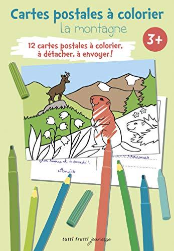 9782360091225: La montagne : Cartes postales � colorier