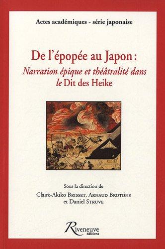 """""""de l'épopée au Japon ; narration épique et théâtralit&..."""