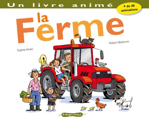 9782360280001: Ferme. Un Livre Anim'(la) (English and French Edition)