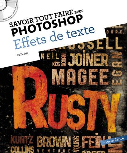 9782361450069: Savoir tout faire avec Photoshop : Effets de texte (1CD)