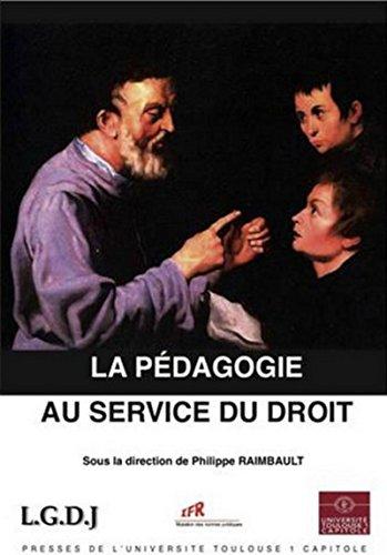 la pédagogie au service du droit: Philippe Raimbault