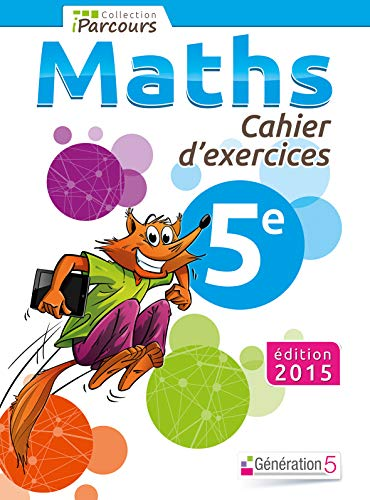 9782362461286: Maths 5e iParcours : Cahier d'exercices