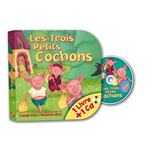 TROIS PETITS COCHONS -LES- LIVRE + 1 CD: RICH CLAUDE RICH DEL