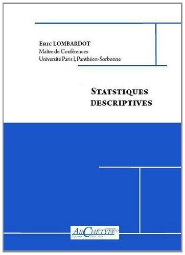 9782363410108: Statistiques descriptives
