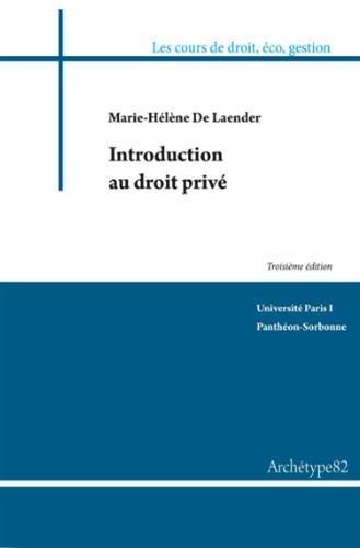 9782363411167: Introduction au droit privé