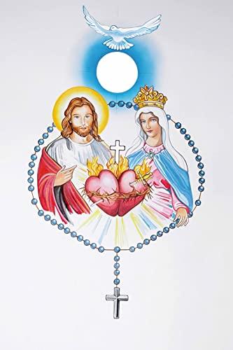 9782364631656: Image coeurs unis de Jésus et Marie par lot de 20