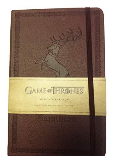 9782364802162: Game of Thrones : Maison Barathéon : Carnet ligné avec pochette (Game of Thrones - Carnets)