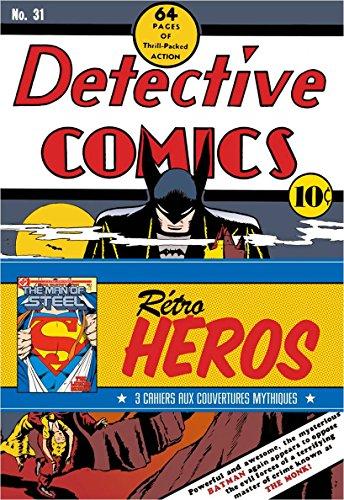 9782364802582: DC Comics : Rétro Héros : Trois Cahiers aux couvertures mythiques (DC Comics - Pack de 3 cahiers)