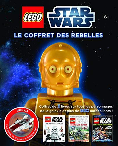 9782364803657: Lego Star Wars, le coffret des Rebelles : Avec 1 encyclopédie illustrée, 2 albums autocollants et un modèle de chasseur A-Wing exclusif