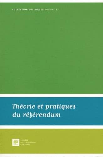 Theorie et pratiques du referendum: Lauvaux Philippe
