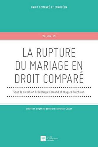 9782365170451: La rupture du mariage en droit comparé