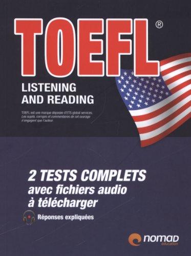 9782365320436: TOEFL listening and reading