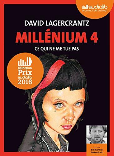 MILLÉNIUM T.04 : CE QUI NE ME TUE PAS 2CD MP3: LAGERCRANTZ DAVID