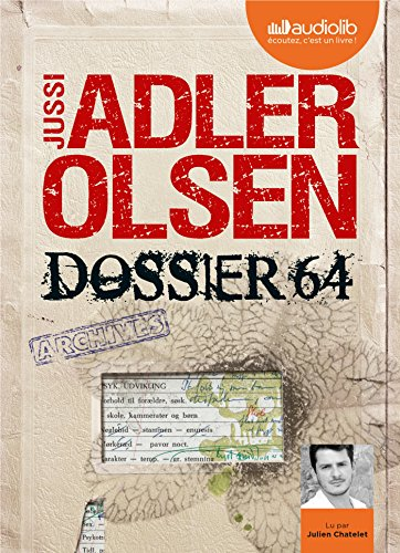9782367621067: Dossier 64 - La quatrième enquête du département V: Livre audio 2 CD MP3