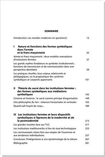 9782367810232: Sociologie des sociétés fermées : Imaginaire symbolique et sacralité en milieu clos (armée - franc-maçonnerie)
