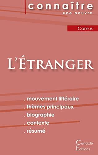 9782367885124: Fiche de lecture L'Etranger de Albert Camus (Analyse Littéraire de Référence)