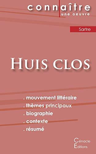 9782367886077: Fiche de lecture Huis clos de Jean-Paul Sartre (analyse littéraire de référence et résumé complet)