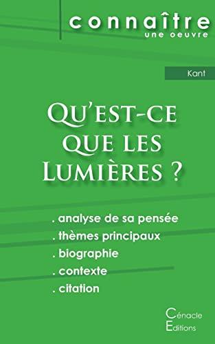 Fiche de lecture Quandapos;est-ce que les Lumières: Kant, Emmanuel