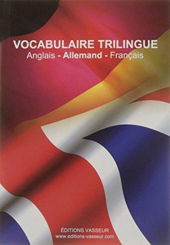 9782368300466: Vocabulaire Trilingue Anglais/Allemand/Français