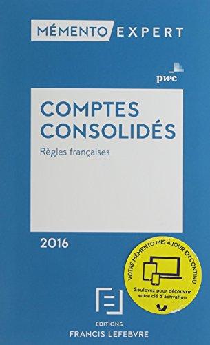 MEMENTO COMPTES CONSOLIDES 2016 (FL.MEMEN.ANNUEL): PWC