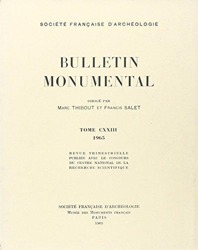 Bulletin Monumental 1965 Tome Cxxiii