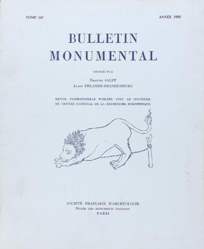 Bulletin Monumental 1985 Tome 143