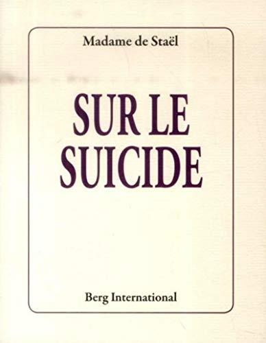 9782370200099: Sur le suicide