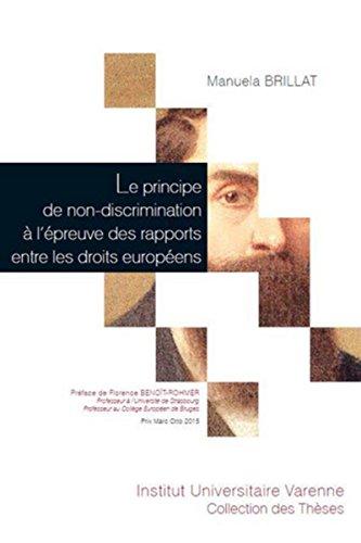 PRINCIPE DE NON DISCRIMINATION A L EPREU: BRILLAT MANUELA