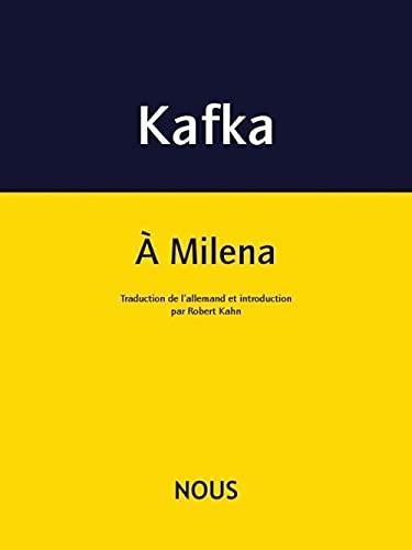 9782370840073: Lettres � Milena