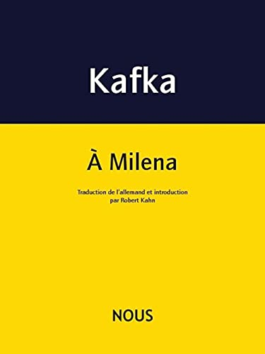 9782370840073: A Milena