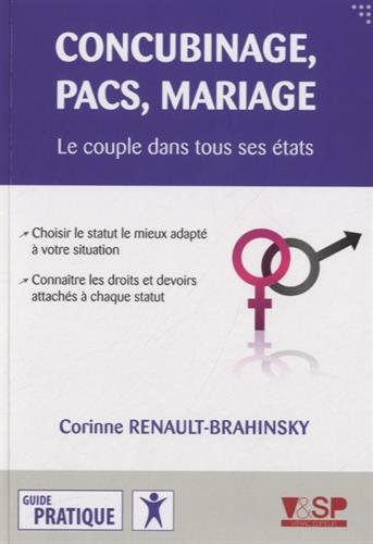 Concubinage, pacs, mariage: Renault-Brahinsky, Corinne
