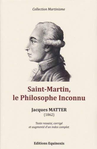 9782370920362: Saint-Martin, le Philosophe Inconnu