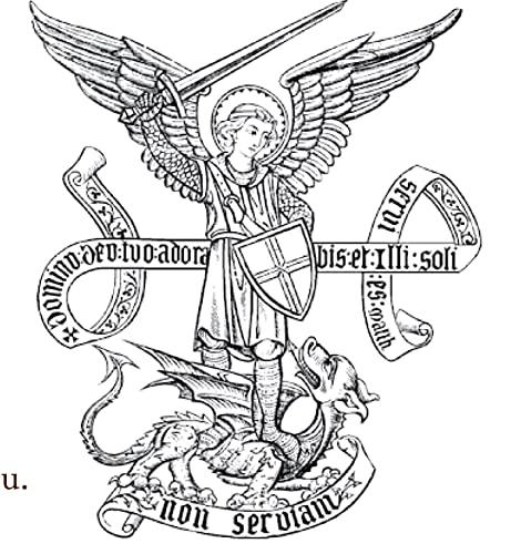 Autocollant Saint-Michel archange: Collectif