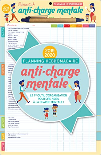 9782377613076: Planning Hebdomadaire Anti-Charge Mentale Memoniak 2020