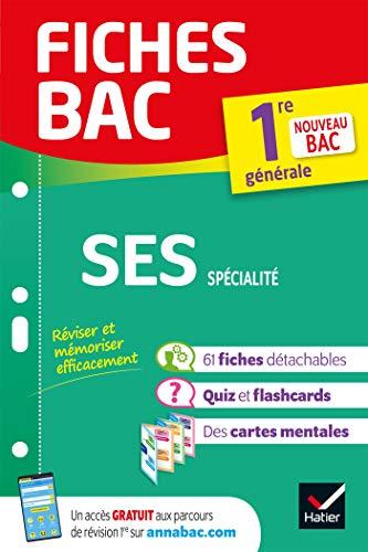 9782401052611: Fiches bac SES 1re générale (spécialité): nouveau programme de Première (2020-2021)