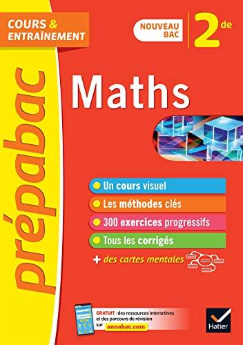 9782401052949: Maths 2de - Prépabac: nouveau programme de Seconde (2020-2021)