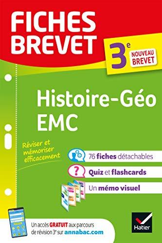 9782401061750: Fiches brevet Histoire-Géographie EMC 3e: fiches de révision pour le nouveau brevet