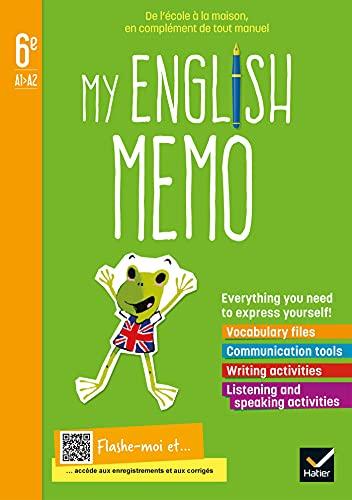 9782401079625: Anglais 6e A1-A2 My english memo: Cahier de l'élève