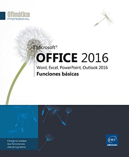 9782409005015: Microsoft Office 2016. Word, Excel, Powerpoint, Outlook 2016. Funciones Básicas