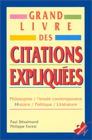 9782501028172: Grand Livre DES Citations Expliquees (French Edition)