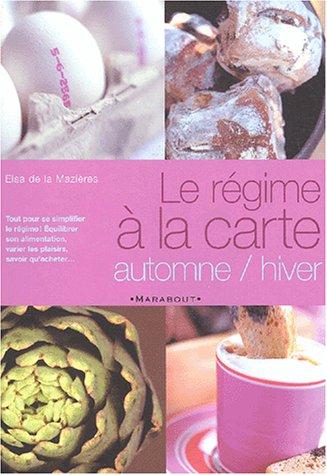 9782501038546: Le Régime à la carte : Automne-Hiver