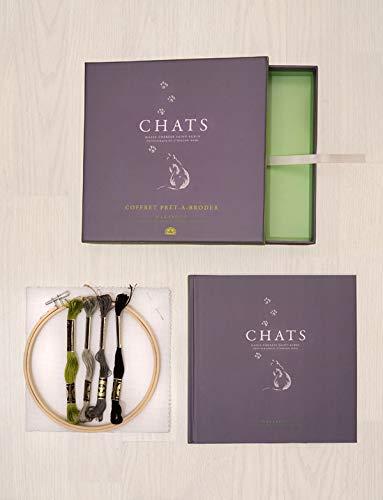 9782501050531: Chats : Coffret prêt-à-broder