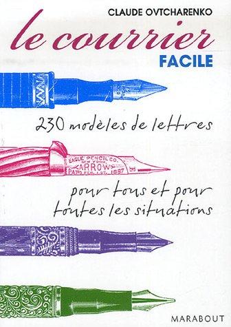 9782501052870: Le courrier facile : Modèles de lettres pour tous et pour toutes les situations (Marabout vie quotidienne)