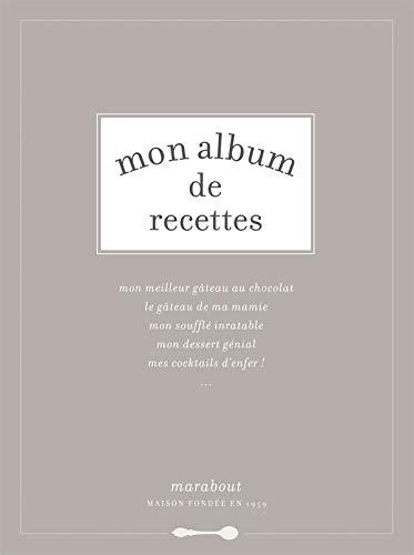 9782501055956: Mon album de recettes (French Edition)